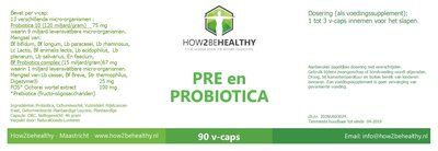 How2behealthy - Pre en Probiotica - 90 capsules